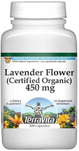 Lavender Flower (Certified Organic) - 450 mg (100 Capsules, ZIN: 517723)