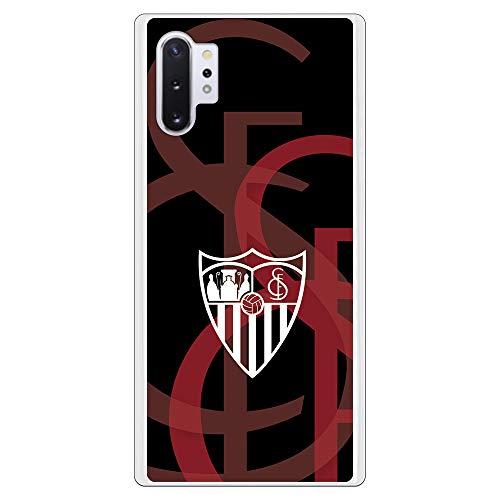 Funda para Samsung Galaxy Note 10 Plus del Sevilla para Proteger tu móvil. Carcasa para Samsung de Silicona Flexible con Licencia Oficial de Sevilla FC.