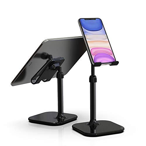スマホスタンド タブレットスタンド 角度高度調整可能 スマホホルダー PCホルダー 完全折り畳み式 シリコン滑り止め 収納便利 iPhone/iPad/Android/Nintendo Switch/Kindleなど(4-11インチ)に対応 (ブラック)