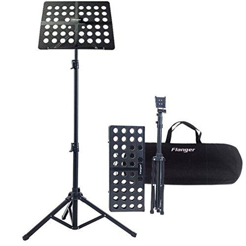 Atril Musica Plegable con Capacidad de Peso Máximo de Bolsa de 5 kg de Altura, Rango Ajustable de 70 a 150Cm, Adecuado para Sostener su Libro de Música, IPad, Computadora Portátil (Negro)