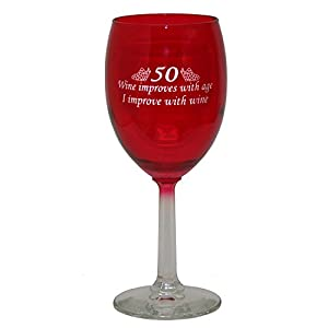 Wine Glass For 50th Year Old Gag Gift Aficionado
