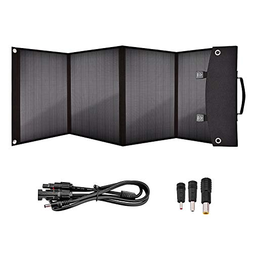 AWYLL Cargador Solar portátil de Panel Solar Plegable de 100 vatios para teléfonos móviles, tabletas, Fuentes de alimentación móviles, GPS, Auriculares Bluetooth, Arranque del Coche.