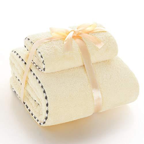 DWW Serviette de Bain Serviette + Serviette absorbante Velours Corail Serviette absorbante Serviette de Bain Longue Serviette Douce en Velours Deux Paires de Costume Amoureux (Couleur : 6)
