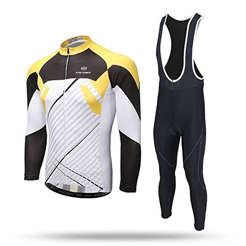 XINTOWN Uomo Sport e Tempo Libero Abbigliamento Ciclismo Magliette Manica Corta Mountain Bike per MTB Maglietta da Set Lunga Modelli di Coppia (L,6)