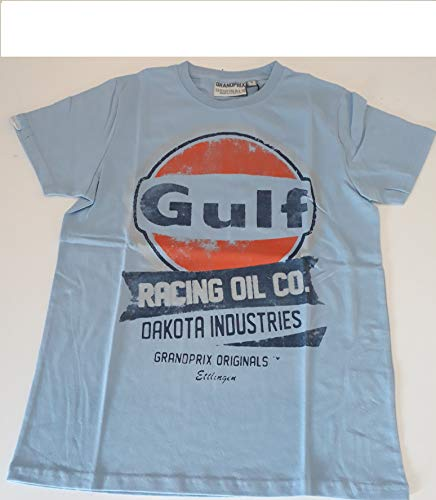Grandprix Originals Gulf Oil Herren Racing T-Shirt, blau, M