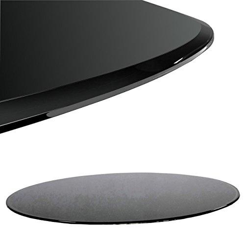 Euro Tische Glasplatte für Kaminofen rund - Glasscheibe mit 6mm ESG Sicherheitsglas - perfekt geeignet als Funkenschutzplatte - Verschiedene Größen (70cm, Schwarz)