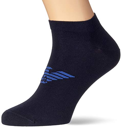 Emporio Armani Underwear mens Shoe Socks Set 3Pack Casual, Blue/Blue/Blue, L