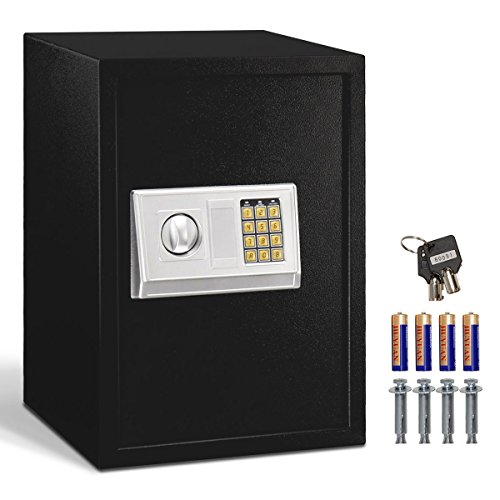Happygrill Digital Electronic Safe Box, Large Keypad Lock Security Cabinet Safes for Home Office Hotel Bank