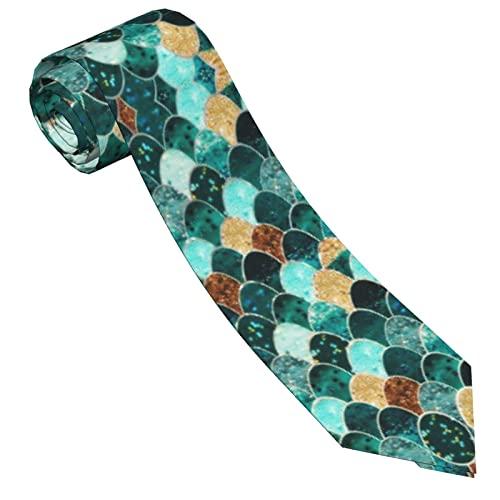Paedto Corbatas de Hombre, Corbatas de Moda de Novedad para Hombres Corbata Delgada para Caballeros, Lazos de Moda para Negocios Formales Informales (Escalas de pescado We29)-8x145cm