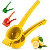 Hydration Nation Lemon Squeezer - Single Bowl Metal Citrus Juicer Extracts Lemon & Lime Juice In Seconds - Easy To Squeeze Manual Press Juicer