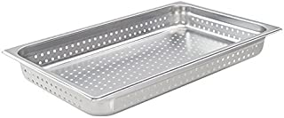 Winco SPJH-102PF, 2-1/2-Inch Full-Size Perforated Steam Pan, 22 Gauge Stainless Steel Sheet Pan, Serving Hotel Pan, NSF
