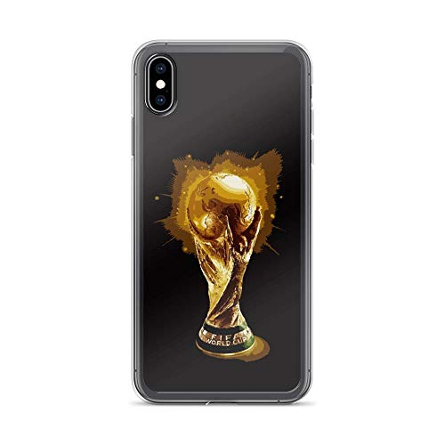 KriteShop Compatible with iPhone X/XS Case Soccer Sport Team Game FIFA-World Golden Trophy Cup Football Gift Fan Arts Pure Clear Phone Cases Cover