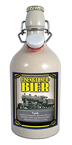 Eisenbahner-Bier C-gek 0,75 Liter Tonflasche mit Bügelverschluss