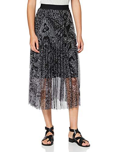 Desigual Womens FAL_Fabiola Skirt, Black, L