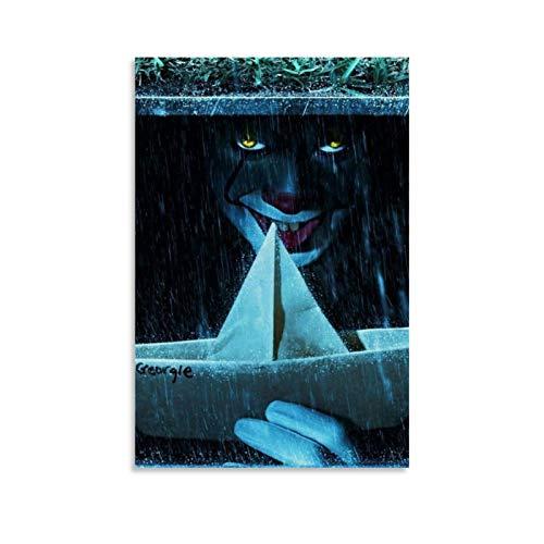 xiaoqiang PennyWise in The Sewer Poster decorativo su tela da parete per soggiorno, camera da letto, 50 x 75 cm