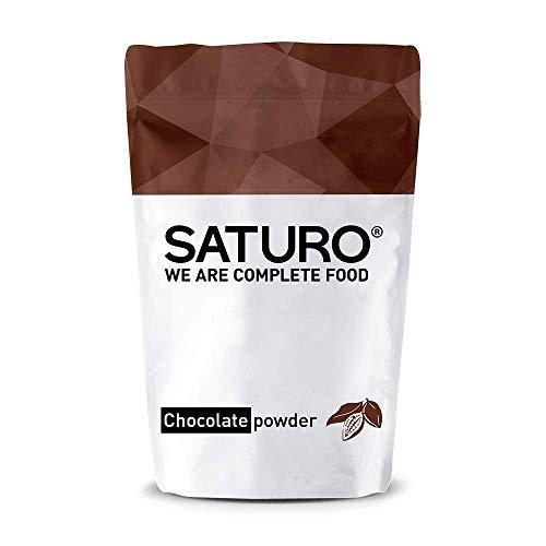 Mahlzeitersatz Shake Saturo, Schoko Eiweißpulver, bis zu 32 Mahlzeiten, Vegan, Laktosefrei, Ideal als Protein Shake oder zum Abnehmen, Meal Prep Alternative mit Langanhaltender Sättigung