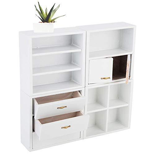 Zerodis 1/12 Escala Accesorios de casa de muñecas Muebles de gabinete de Madera Sala de Estar Dormitorio…