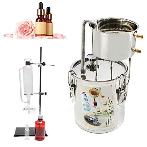 10 Litres 2 Gallon Nuevo Casa Inoxidable Aceite Esencial Destilador De Agua Pura Con Botella Vidrio Separador Bomba Agua Termómetro