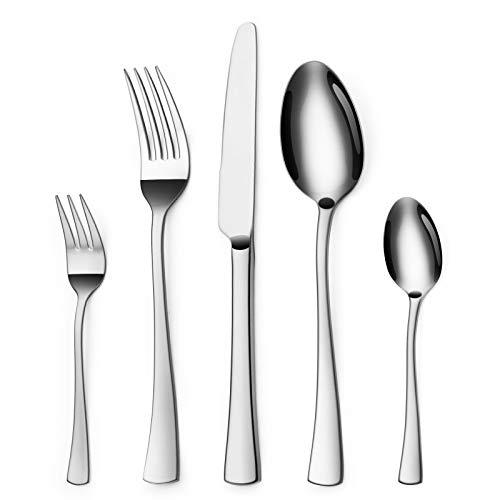 Sharecook 30 Stück Edelstahlbesteck,Besteck Besteck-Set, Messer Gabeln Löffel Set für 6 Personen (Besteck, 6 Sätze)
