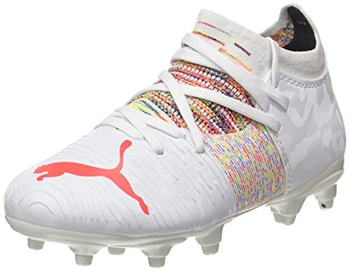 PUMA Future Z 3.1 FG/AG JR, Scarpe da Football, Bianco White/Red Blast, 37.5 EU