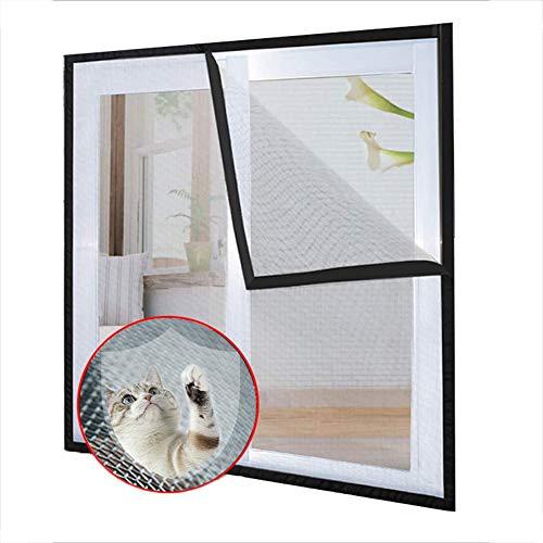 Ezoon - Red de seguridad para ventana de gato, mosquitera, semitransparente, rejilla de malla para gatos y pájaros de gato, autoadhesivo de velcro, corte para adaptarse