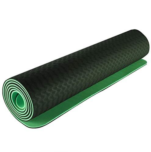 FHKJ Yoga Mat Protezione Ambientale Antiscivolo Ampliamento e Ispessimento per Principianti Fitness Mat Yoga Mat