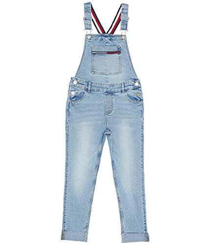 Tommy Hilfiger Girls' Denim Overall, FA21Nolita Wash, 6X