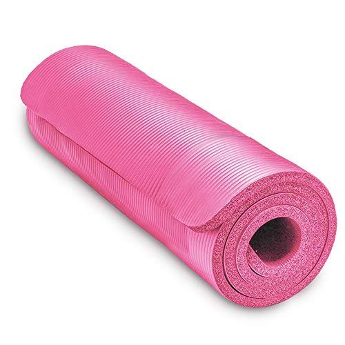 Leamer Esterilla de yoga gruesa / 1,5 cm / 2 cm Profesional Yogamatte Respetuoso con el medio ambiente antideslizante de entrenamiento fitness adecuado para Yoga-Pilates y Bodenturnen, 183 x 61 cm