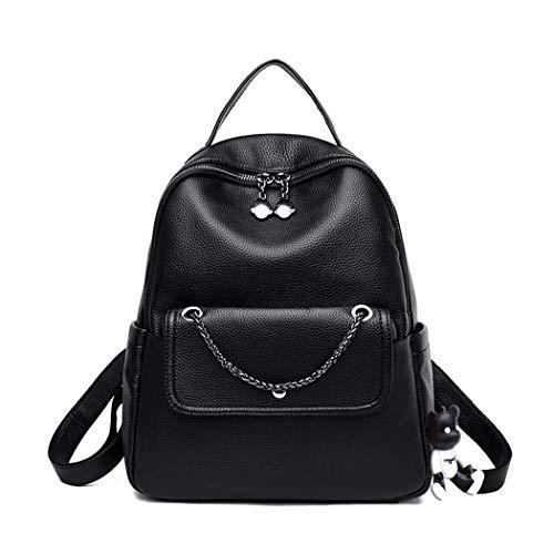 BUKESIYI Women's Backpack Handbags Rucksack Shoulder Bags PU Leather Mini Kawaii Anti-theft CCUK78234 Black