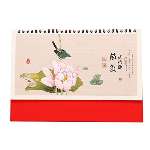 Chinesische Kalender Für Jeden Tag 2021 Mondkalender 2021 Tischkalender für das Mondjahr des Ochsen,26x7x18.3cm,Chinesisches Mallotusbild Mondkalender 2021 Tischkalender für Die Büroorganisation
