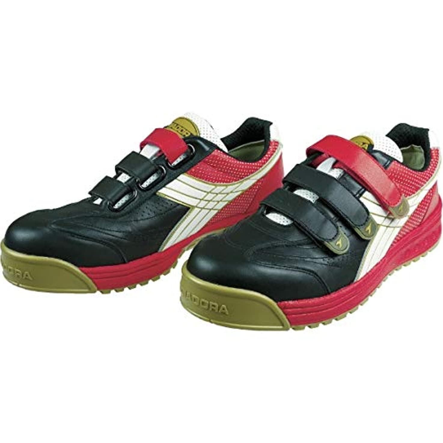 中で写真撮影さておきドンケル ディアドラ安全作業靴ロビン黒/白/赤27.0cm RB213270