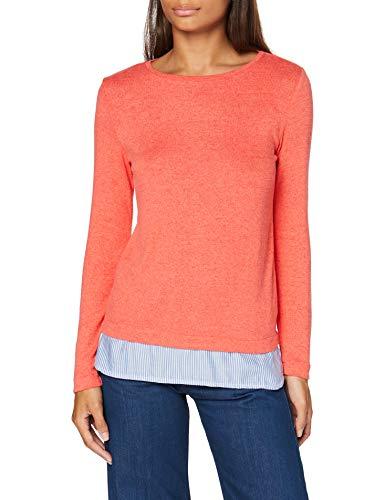 Springfield 1.Bimateria Faldon-C/64 Camiseta, Naranja (Orange 64), 36 (Tamaño del Fabricante: S) para Mujer