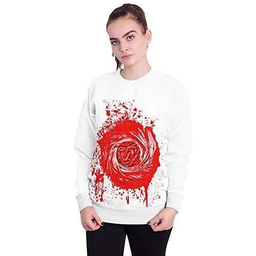 Luckycat Frauen Halloween Blut Print Party Langarm Pullover Top Bluse Sweatshirt Mode 2018