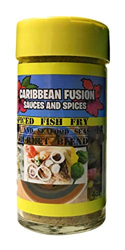 Caribbean Fusion - Gourmet Spiced Fish Fry Seasoning, Vegan Friendly , low sodium Great for grilling Salmon, Seafood, Vegetable