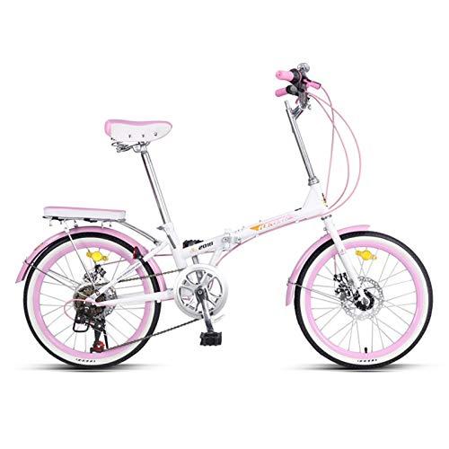 Bicicletas plegables, Plegables Bicicletas, Bicicletas De 20 Pulgadas for Los Adultos, De Las Mujeres Luz De Trabajo Adulto Variable De La Velocidad Ligera Portátil Adulto Pequeño Estudiante Masculino