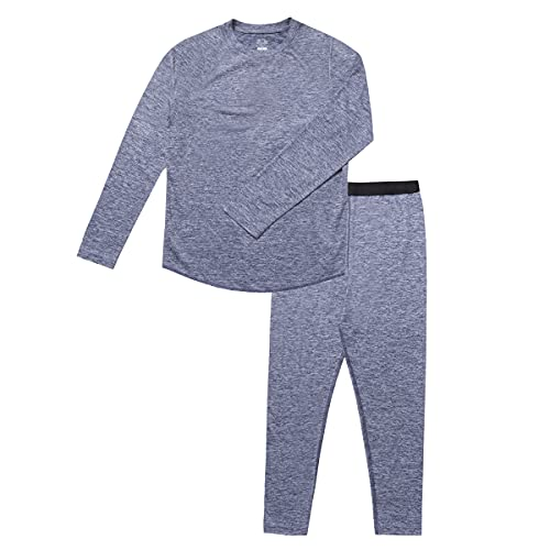 Fruit of the Loom Boys' Performance Thermals Underwear Set, Blue Cove Heather, 4/5