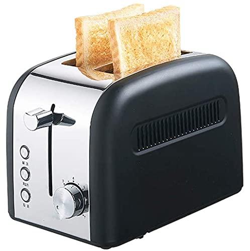 2 rebanada, retro pequeño con función de descongelamiento/recalentamiento/cancelación, 7 configuraciones de sombra, ranura adicional de acero inoxidable compacto S para los waffles de pan (color: