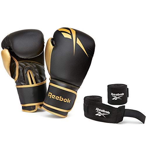 Reebok 12oz Boxhandschuhe + Wraps Set
