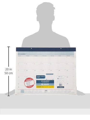 """AT-A-GLANCE Academic Desk Pad Calendar, July 2017 - June 2018, 22"""" x 17"""", Two-Color (AYST2417) Photo #3"""