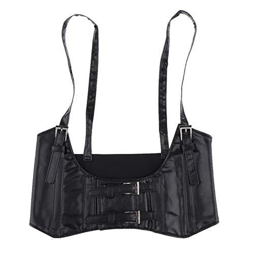 Mujeres De Cuero Elástico De Cuero Cinturón De Cintura Corsé Corset Cinch Subbit Universal (Color : Black)