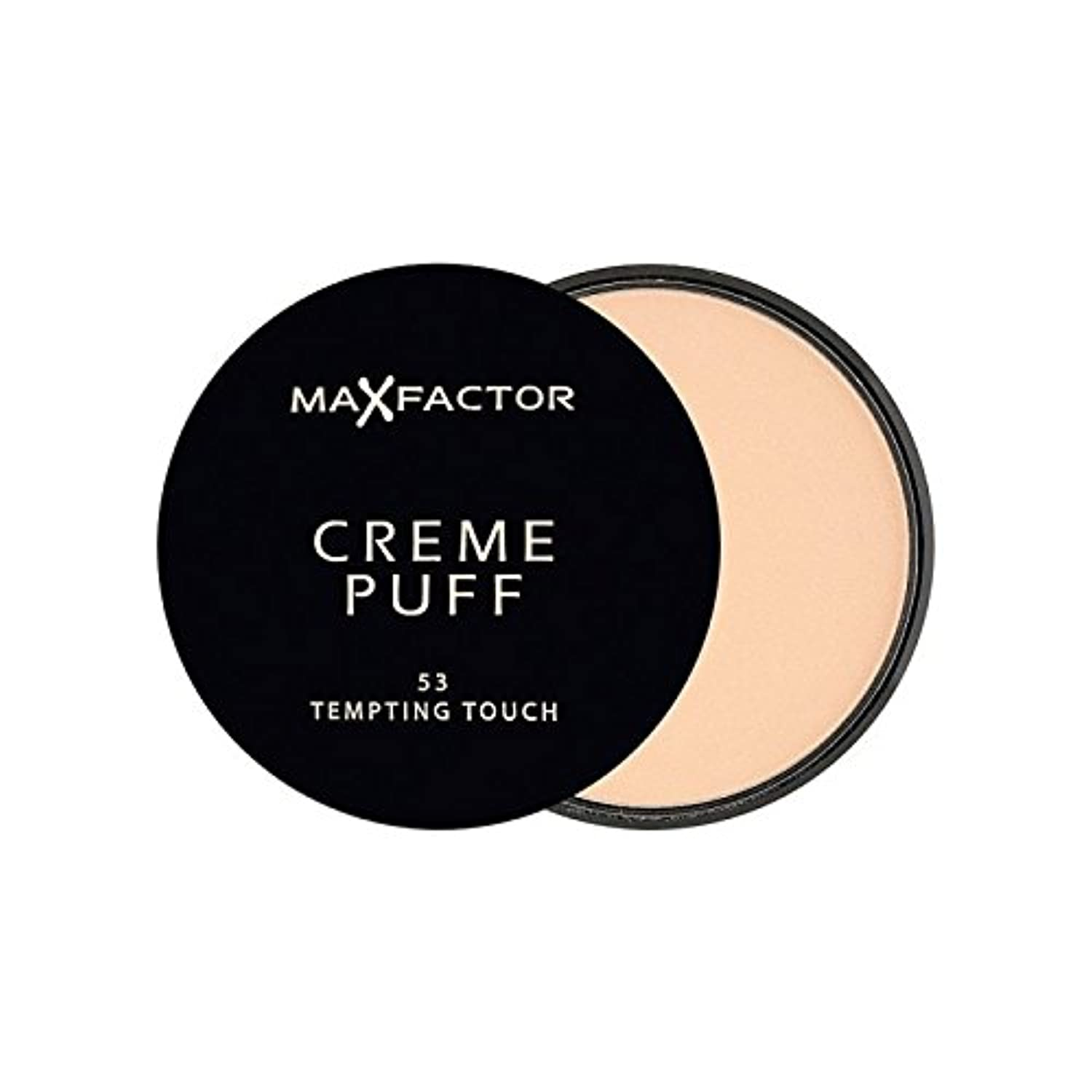 Max Factor Creme Puff Powder Compact Tempting Touch 53 (Pack of 6) - マックスファクタークリームパフパウダーコンパクト魅力的なタッチ53 x6 [並行輸入品]