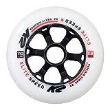 K2 110 MM Elite Wheel 4-Pack Roues INLINES Skates Mixte Adulte, Blanc