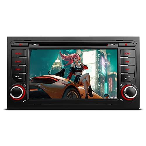 Freeauto Para Audi A4 / S4 / RS4 / Seat Exeo 7 pulgadas Android 10.0 Radios GPS Navegación con función de espejo de pantalla y OBD2