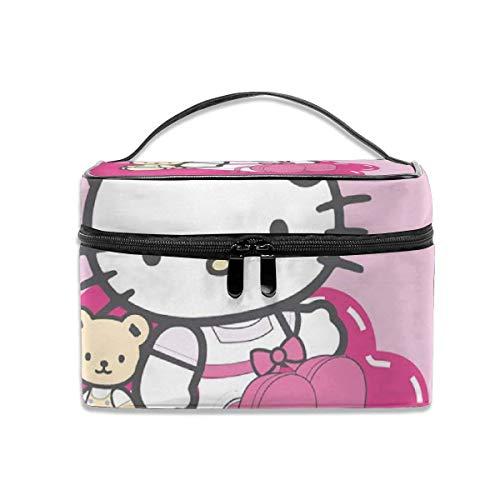 Borsa per cosmetici Hello Kitty Borsa per trucco da viaggio portatile Custodia per cosmetici Organizer per borse da toilette multifunzione