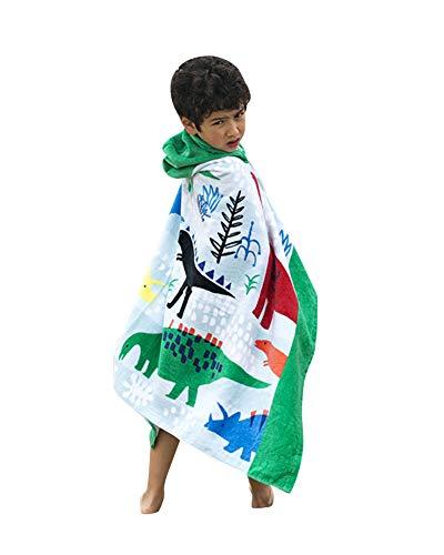 GUOCU Garçons Filles Enfants Serviette de Plage - Serviette de Bain pour Enfants Coton Serviette de Sport Couverture de Dessin Animé Natation Surf Randonnée Voyage ,Brownmermaid,76cm
