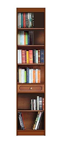 Arteferretto Bibliothèque Colonne Haute, Petit Espace, avec Un tiroir et étagères, livré monté