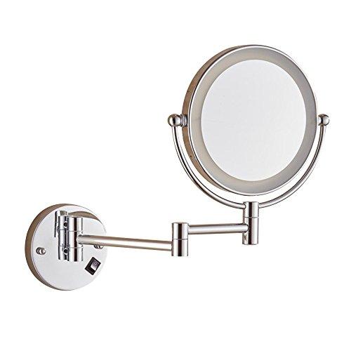 YONG FEI Alliage de cuivre 3 fois lampe murale rechargeable pliable télescopique durable et facile à rouiller miroir double face base antidérapante adapté à toutes les occasions haute qualité