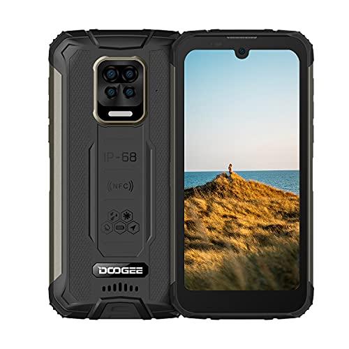 "Robustes Handy,DOOGEE S59 Android 10, 10050 mAh Akku, Outdoor Smartphone Ohne Vertrag 2 W Super-Lautsprecher 16 MP 4 Kamera 5,71\"" Zoll Wasserdichtes Telefon mit 4G Dual SIM NFC/GPS [2021](Schwarz)"