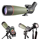 Gosky 2019 Updated Newest Spotting Scope with Tripod, Carrying Bag - BAK4 Angled Scope for Target Shooting Hunting Bird Watching Wildlife Scenery (20-60x80 Scope+Phone Mount+SLR Mount for Nikon)