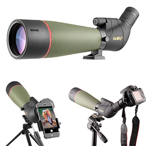 Best Price! Gosky 2019 Updated Newest Spotting Scope with Tripod, Carrying Bag - BAK4 Angled Scope f...
